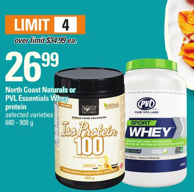 North Coast Naturals Or Pvl Essentials Whey Protein 680 - 908 g