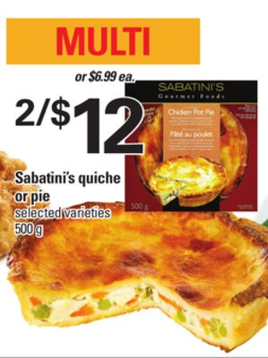 Sabatini's Quiche Or Pie - 500 g