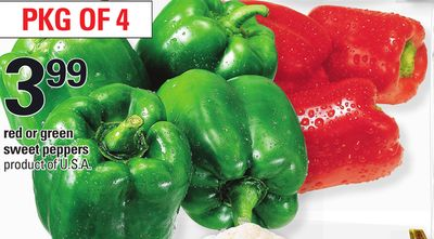 Red Or Green Sweet Peppers - Pkg Of 4