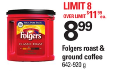 Folgers Roast & Ground Coffee - 642-920 g