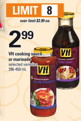 VH Cooking Sauce Or Marinade - 296-450 mL
