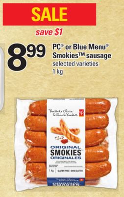 PC Or Blue Menu Smokies Sausage - 1 Kg