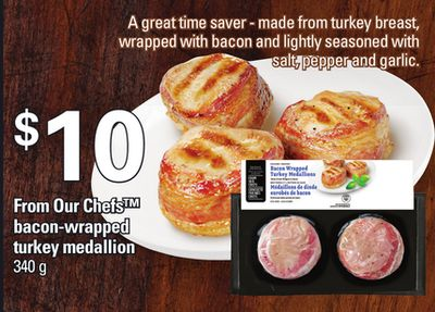 From Our Chefs Bacon-wrapped Turkey Medallion - 340 g