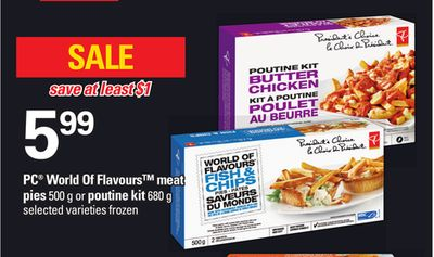 PC World Of Flavours Meat Pies - 500 g Or Poutine Kit - 680 g