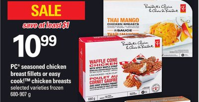 PC Seasoned Chicken Breast Fillets Or Easy Cook! Chicken Breasts - 680-907 g