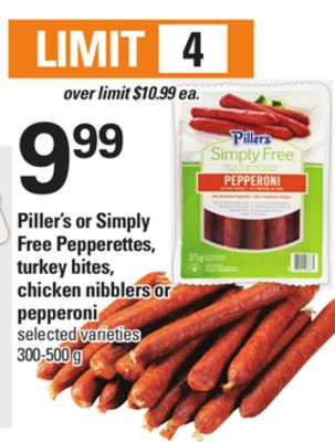 Piller's Or Simply Free Pepperettes - Turkey Bites - Chicken Nibblers Or Pepperoni - 300-500 g