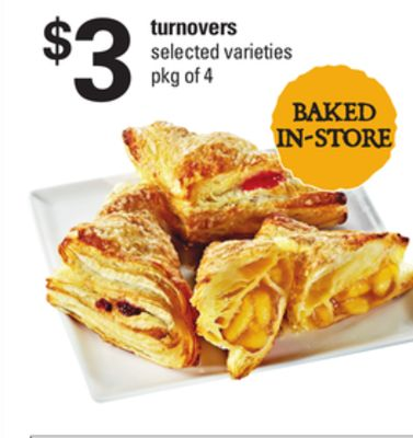 Turnovers - Pkg of 4