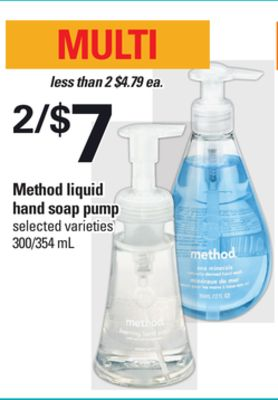 Method Liquid Hand Soap Pump 300/354 mL
