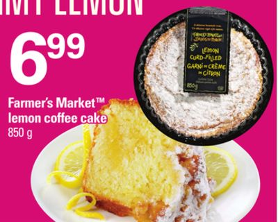 Farmer's Market Lemon Coffee Cake - 850 g