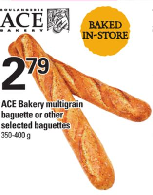 Ace Bakery Multigrain Baguette Or Other Selected Baguettes - 350-400 g