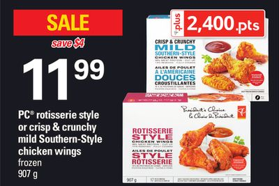 PC Rotisserie Style Or Crisp & Crunchy Mild Southern-style Chicken Wings