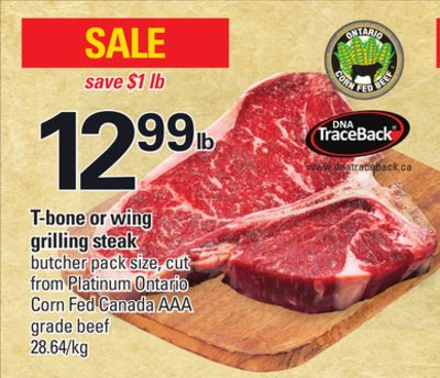 T-bone Or Wing Grilling Steak