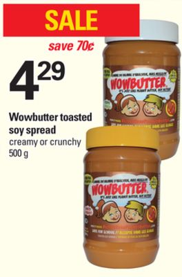 Wowbutter Toasted Soy Spread - 500 g