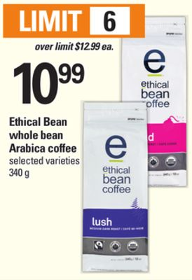 Ethical Bean Whole Bean Arabica Coffee - 340 g