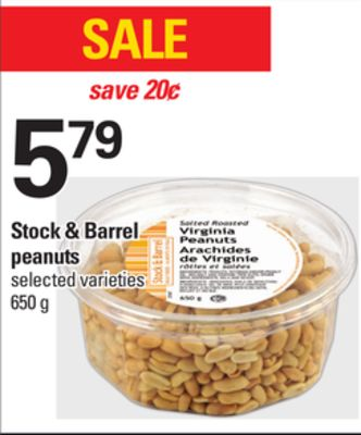 Stock & Barrel Peanuts - 650 g