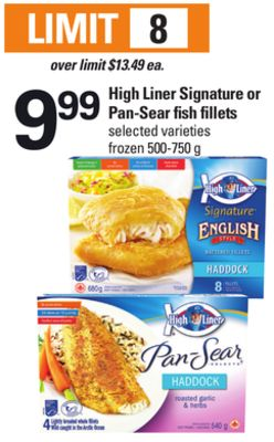 High Liner Signature Or Pan-sear Fish Fillets - 500-750 g