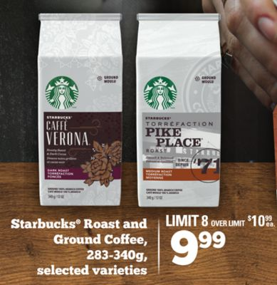 Starbucks Roast And Ground Coffee - 283-340g