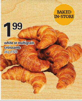 White Or Multigrain Croissants - Pkg of 6/8