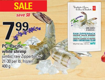 PC Pacific White Shrimp - 21-30 Per Lb - 400 g