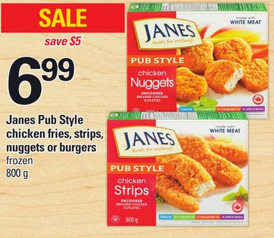 Janes Pub Style Chicken Fries - Strips - Nuggets Or Burgers - 800 g