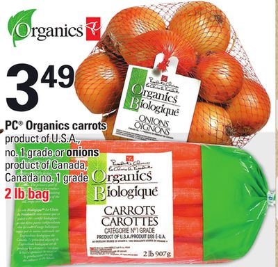 PC Organics Carrots or Onions - 2 Lb Bag
