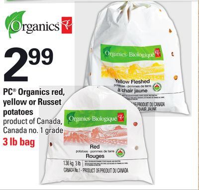 PC Organics Red - Yellow Or Russet Potatoes - 3 Lb Bag