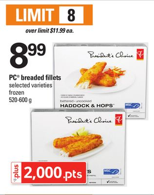 PC Breaded Fillets - 520-600 g