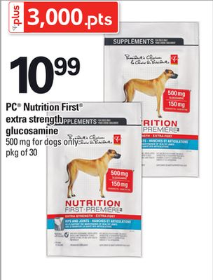 PC Nutrition First Extra Strength Glucosamine - Pkg of 30