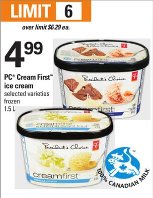 PC Cream First Ice Cream - 1.5 L