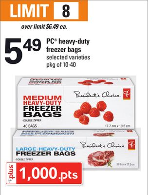 PC Heavy-duty Freezer Bags - Pkg of 10-40