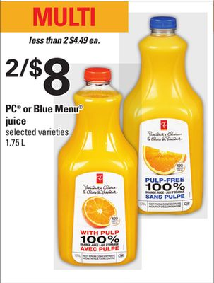 PC Or Blue Menu Juice - 1.75 L