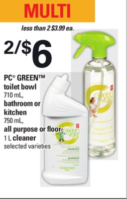 PC Green Toilet Bowl - 710 mL - Bathroom Or Kitchen.750 mL - All Purpose Or Floor - 1 L Cleaner