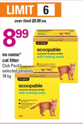 No Name Cat Litter - 18 Kg