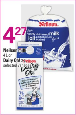 Neilson Milk - 4 L or Dairy Oh! - 2 L