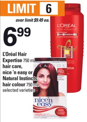 L'oréal Hair Expertise - 750 mL Hair Care - Nice 'N Easy Or Natural Instincts Hair Colour - 750 mL