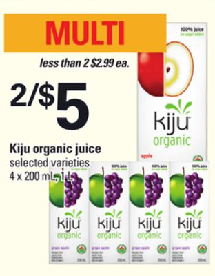 Kiju Organic Juice - 4 X 200 mL - 1 L