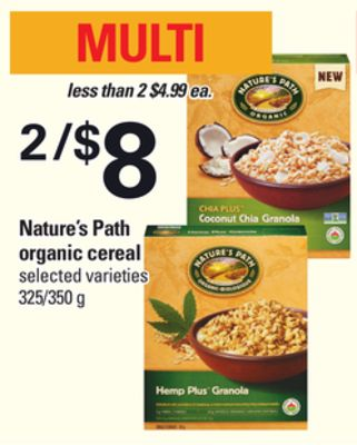 Nature's Path Organic Cereal - 325/350 g