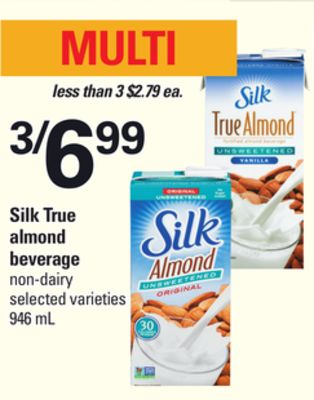 Silk True Almond Beverage - 946 mL