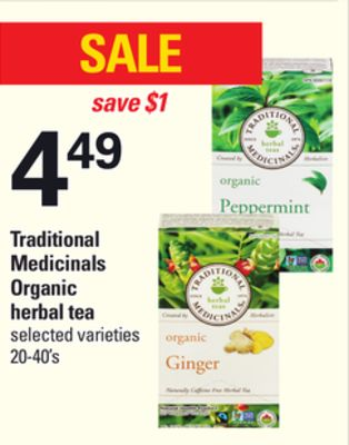 Traditional Medicinals Organic Herbal Tea - 20-40's