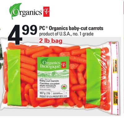 PC Organics Baby-cut Carrots - 2 Lb Bag