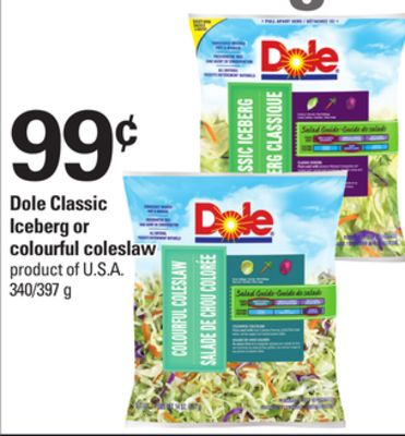 Dole Classic Iceberg Or Colourful Coleslaw - 340/397 g