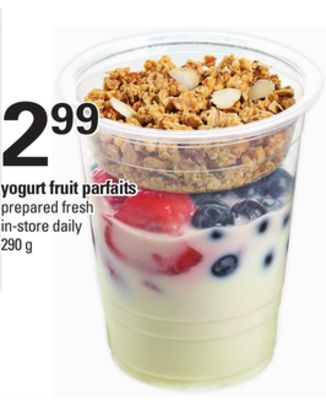 Yogurt Fruit Parfaits - 290 g
