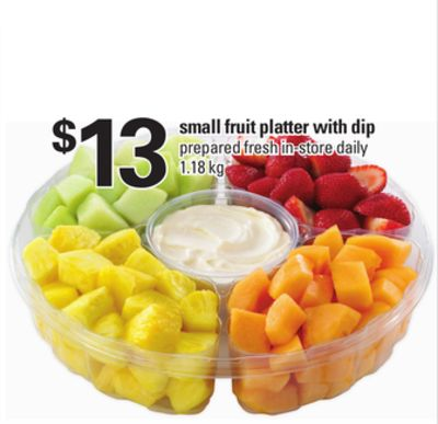 Small Fruit Platter With Dip - 1.18 Kg