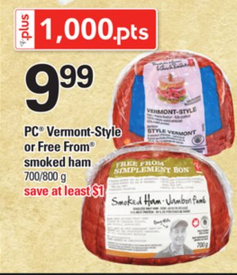 PC Vermont-style Or Free From Smoked Ham - 700/800 g