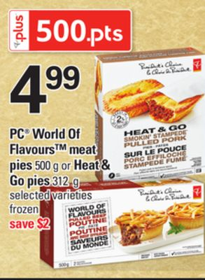 PC World Of Flavours Meat Pies - 500 g Or Heat & Go Pies 312 g