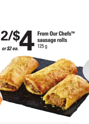 From Our Chefs Sausage Rolls - 125 g