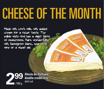 Alexis De Portneuf Double Cream Brie