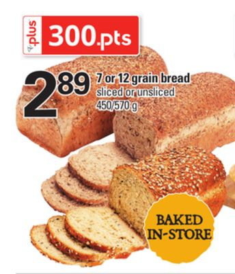 7 Or 12 Grain Bread - 450/570 g