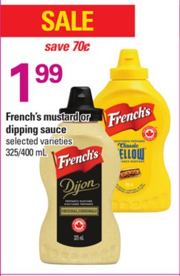 French's Mustard Or Dipping Sauce - 325/400 mL