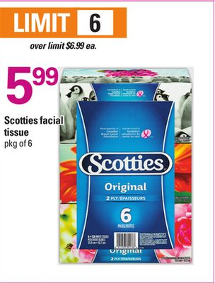 Scotties Facial Tissue - Pkg of 6